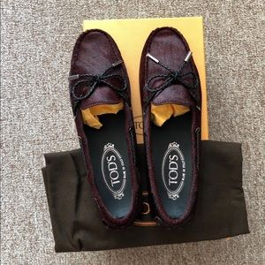 Tod's calf hair loafer